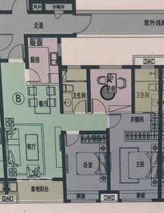 (北城区)丽水湖·梧桐苑3室3厅2卫112.72m²毛坯房