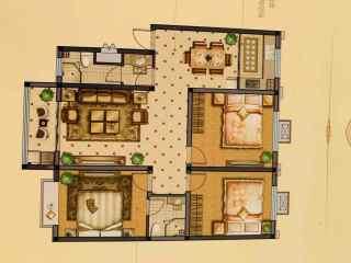 南湖花园 3室2厅2卫122.6m²毛坯房